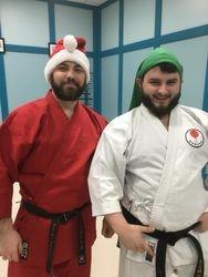Sensei santa and his elf...