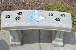 Memorial bench @ the Blind school in Memory of Tina Corey