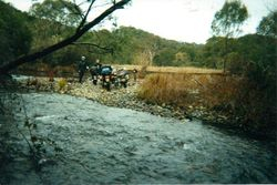 1990 Alpine Rally @ Perkins Flat - either side of the river at Perkins Flat