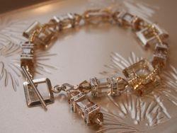 Swarovski Golden Square Bracelet