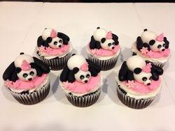Birthday Panda Mini cakes (jumbo cupcakes)