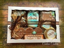 rustic bridal shower gift box