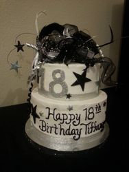 Silver and Black 18th Birthday
