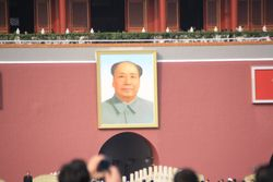 Mao's photo at entrance to Forbidden City in Beijing