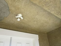 Stucco Ceiling Repair Before