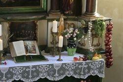 Das Altar-Het altaar met de gaven