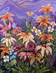 Lilies in purple