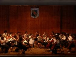 La orquesta junior en concierto