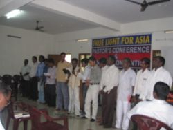 Seminary students presenting a Group song