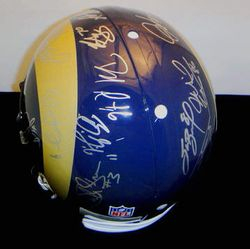 ST. LOUIS RAMS - 2010 TEAM SIGNED PROLINE HELMET