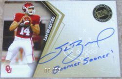 Sam Bradford Rookie GOLD 2010 PRESS PASS Autograph Signed BOOMER SOONER 8/75