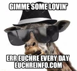 Gimme some lovin' err Euchre every day.