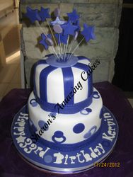 CAKE 44A2- Another Stripes & Stars Cake