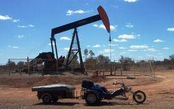 An Oil Well Pumper beside the Highway between Eromanga & Quilpie - Aug 2007