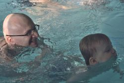 Oskar and dad