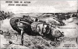 Tank Postcard. 1918.