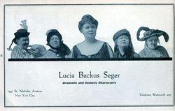 LUCIA BACKUS SEGER