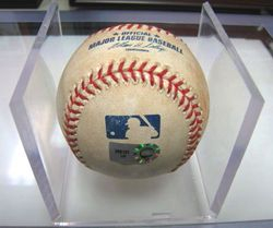 Milestone:Game Used Ball from Colby Rasmus 1st Hit Game