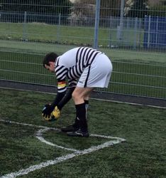 ALLY McNAUGHT ABOUT TO TAKE A CORNER.....