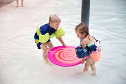 Children playing at pool party