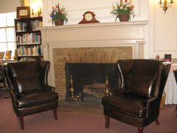 New leather library chairs