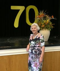 Laurel Asimus at 70th anniversary lunch '17