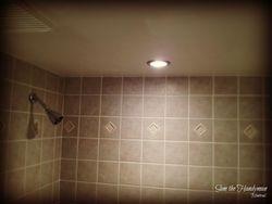 Bathroom new light fixture installed