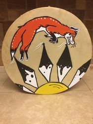 Fox jumps over the sun drum 13""