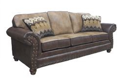 #530-69 Stampede Sable - Vagabond Brandy with Padma Otter pillows