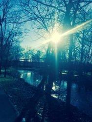 Twin Creek, Footbridge, Lewisburg, Ohio