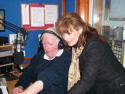 Jimmy & Mary Duff in studio at Dundalk FM.