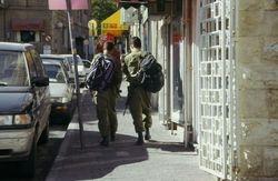 Soldiers in west Jerusalem