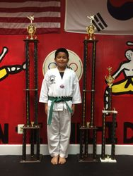 05/16/2015 S. Pavlou TKD Championships  Jean Peter Espejo  1st Place Forms  1st Place Breaking  2nd Place Sparring