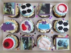 Dog themed birthday cupcakes