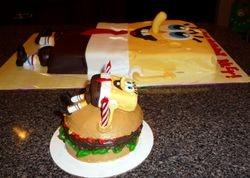 Spongebob Crabby Patty Smash Cake