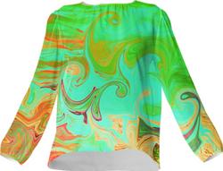 Colour fantasy blouse