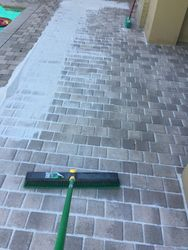 re-sand pavers
