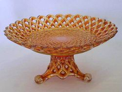 Wickerwork bowl with base - marigold