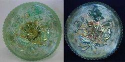 Open Rose plate, green
