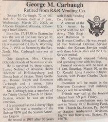 Carbaugh, George M. 2002
