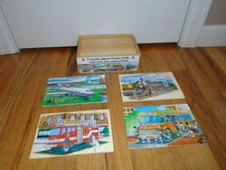 Melissa & Doug Wooden Jigsaw Puzzles in a Box - Vehicles - $7