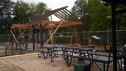 Roof is going up!