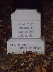 The new headstone the event raised money for.