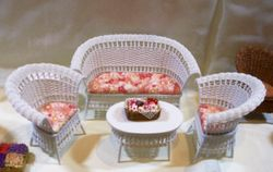Summery floral wicker furniture
