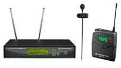 Sennheiser Wireless Lavaliere Microphones.  Used for officiants such as JP's, Pastors, Ministers, etc.