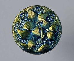 Trillium contemporary Czech button made into hatpin