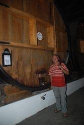 John next to a rather large barrel!