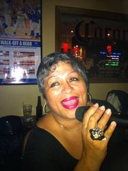 Norma wowing the crowd with a sultry song at Legendary Friday Night Karaoke!
