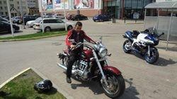 Reals motocikls ar 6 cilindriem
