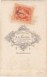 B. K. Sweitzer, photographer, of Allentown, PA  - back
